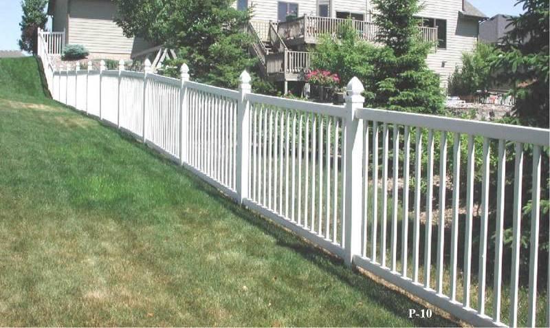 2 rail hartford picket fence