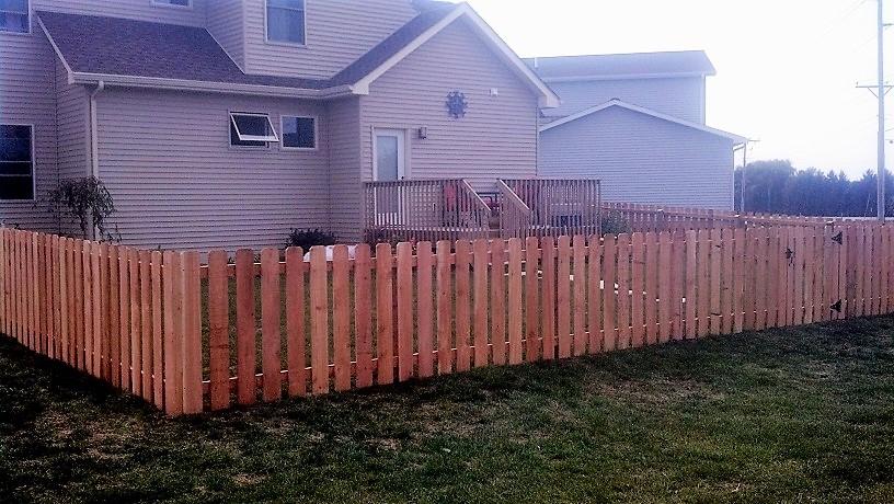 iowa wood fence in backyard