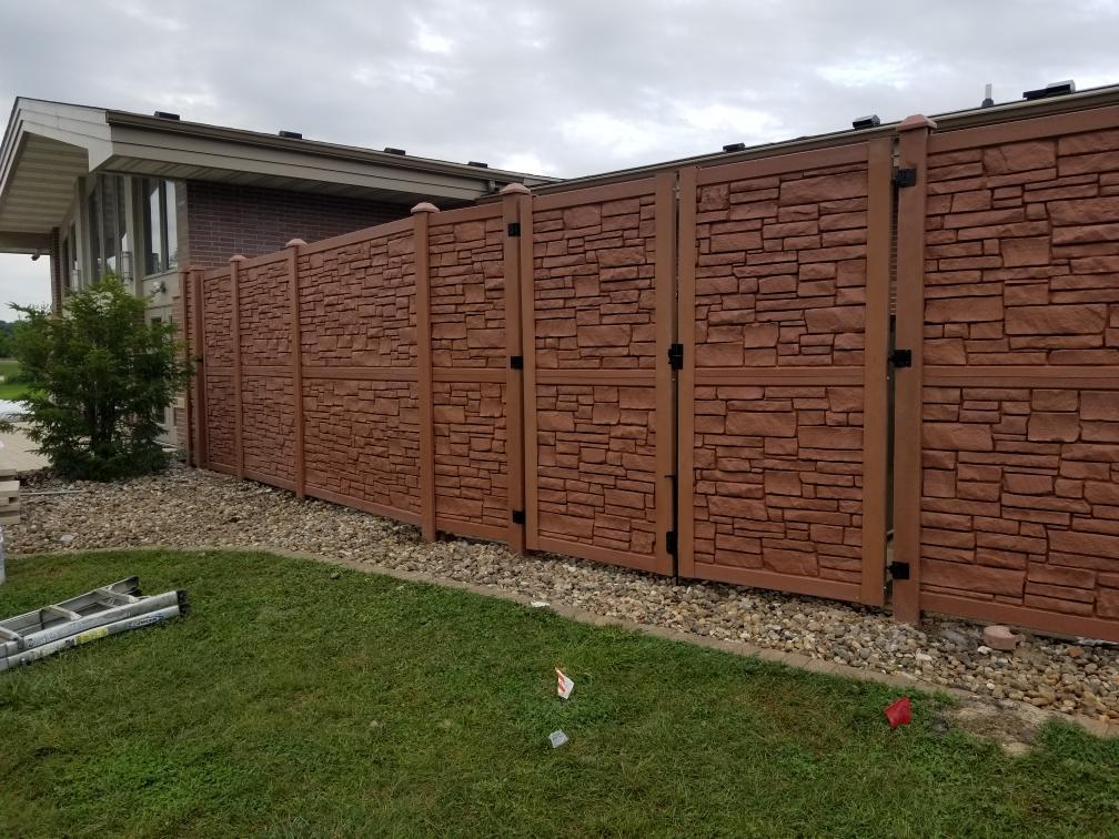 decorative rock fence