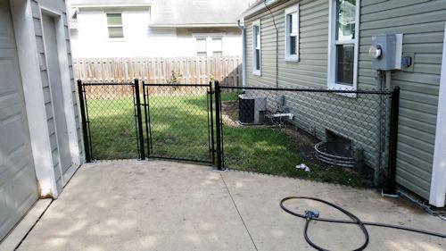 black residential gate