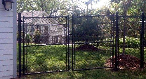 black residential high fence