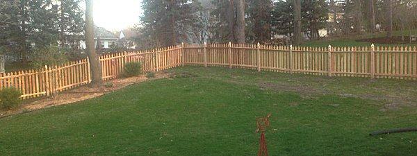 cedar gothic fence