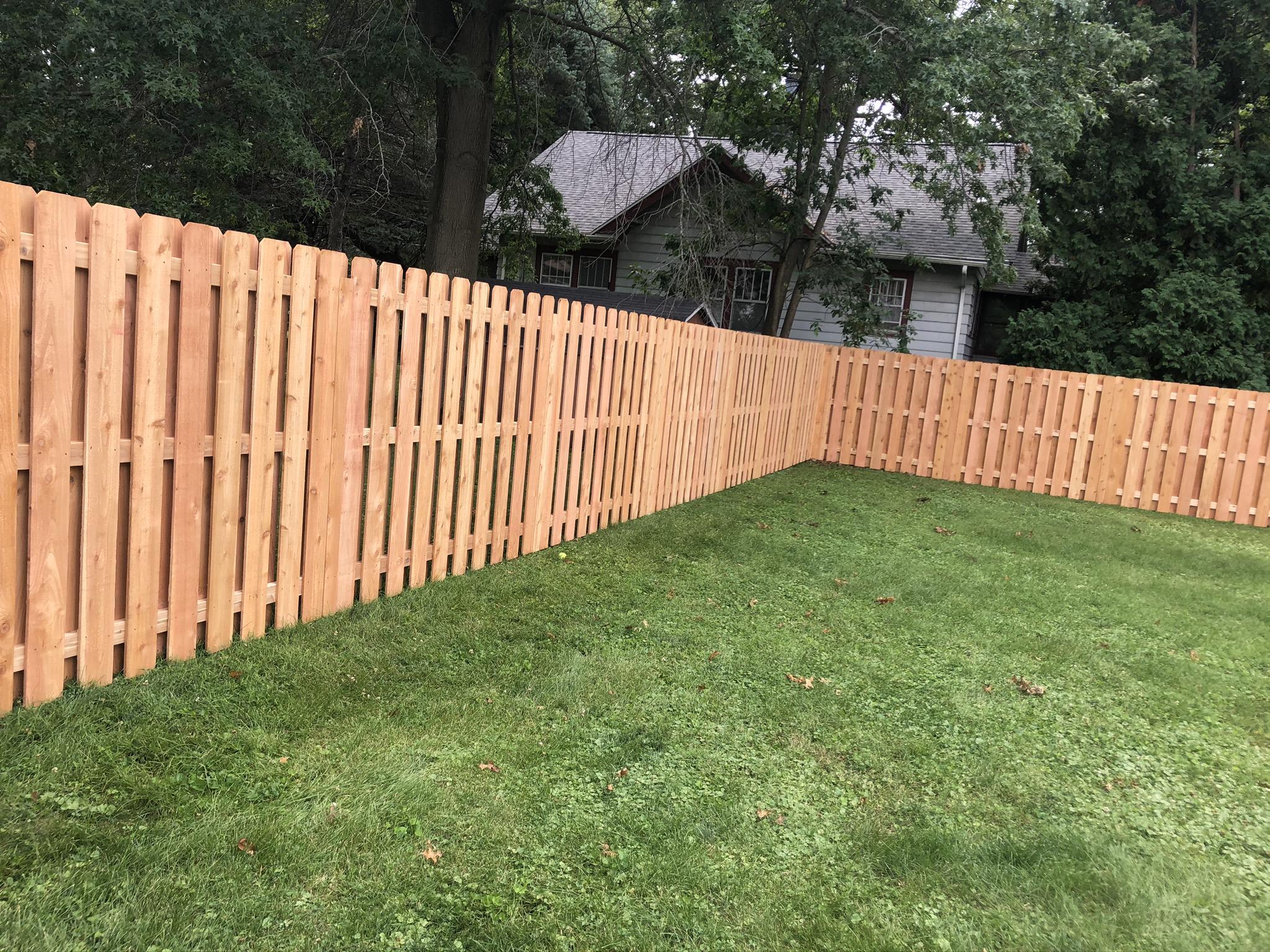 cedar shadowbox wood fence cedar rapids