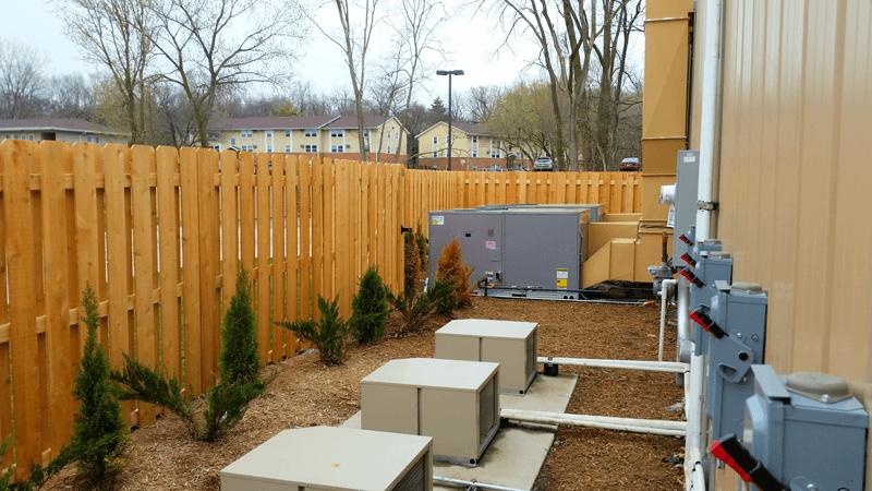 commercial decorative utilities area fence
