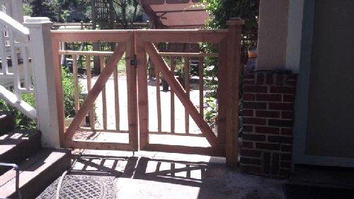 decorative wood gate