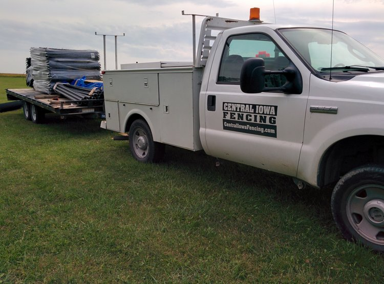 central iowa fencing truck
