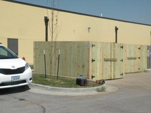 dumpster enclosure wood